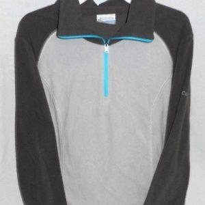 Gray Turquoise Columbia Fleece Jacket